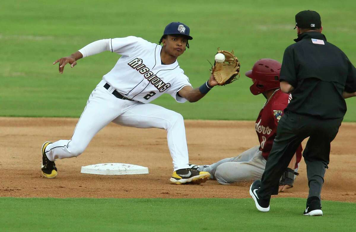 Missions shortstop CJ Abrams will miss the rest of the season with a fractured left tibia and a sprained MCL.