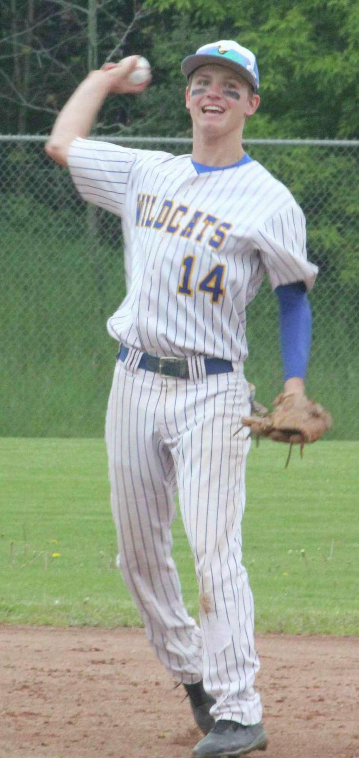 Danny Witbeck has had a strong senior season for Evart's baseball team. (Herald Review/John Raffel)