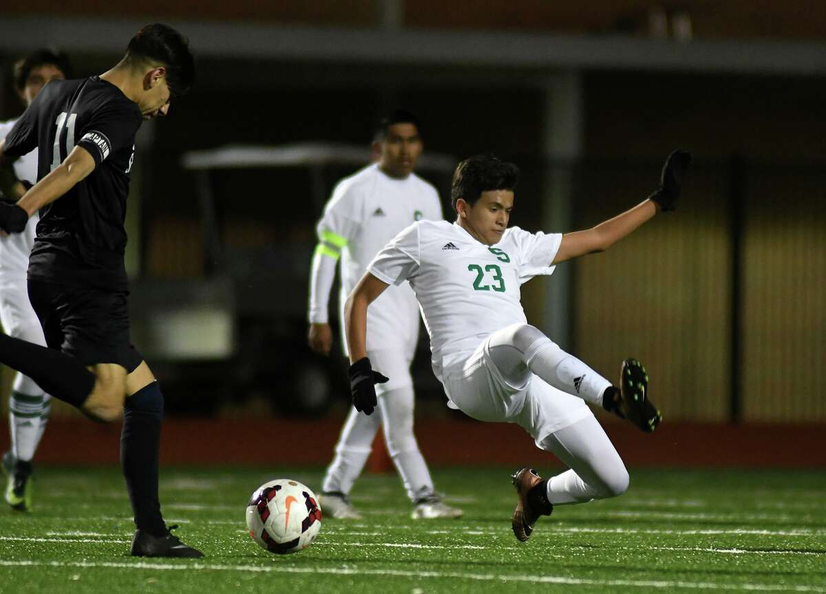 Spring and Aldine ISD boys soccer coaches released the All-District 14-6A teams following the conclusion of each team's 2020-21 regular season and postseason. Spring High had two athletes named to the first team including senior defender Roberto Tovar (23).