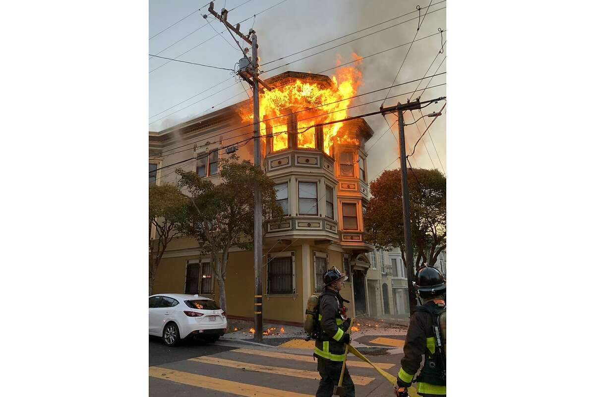 A fire at a house fire 1130 Shrader Street in San Francisco that left one person dead.