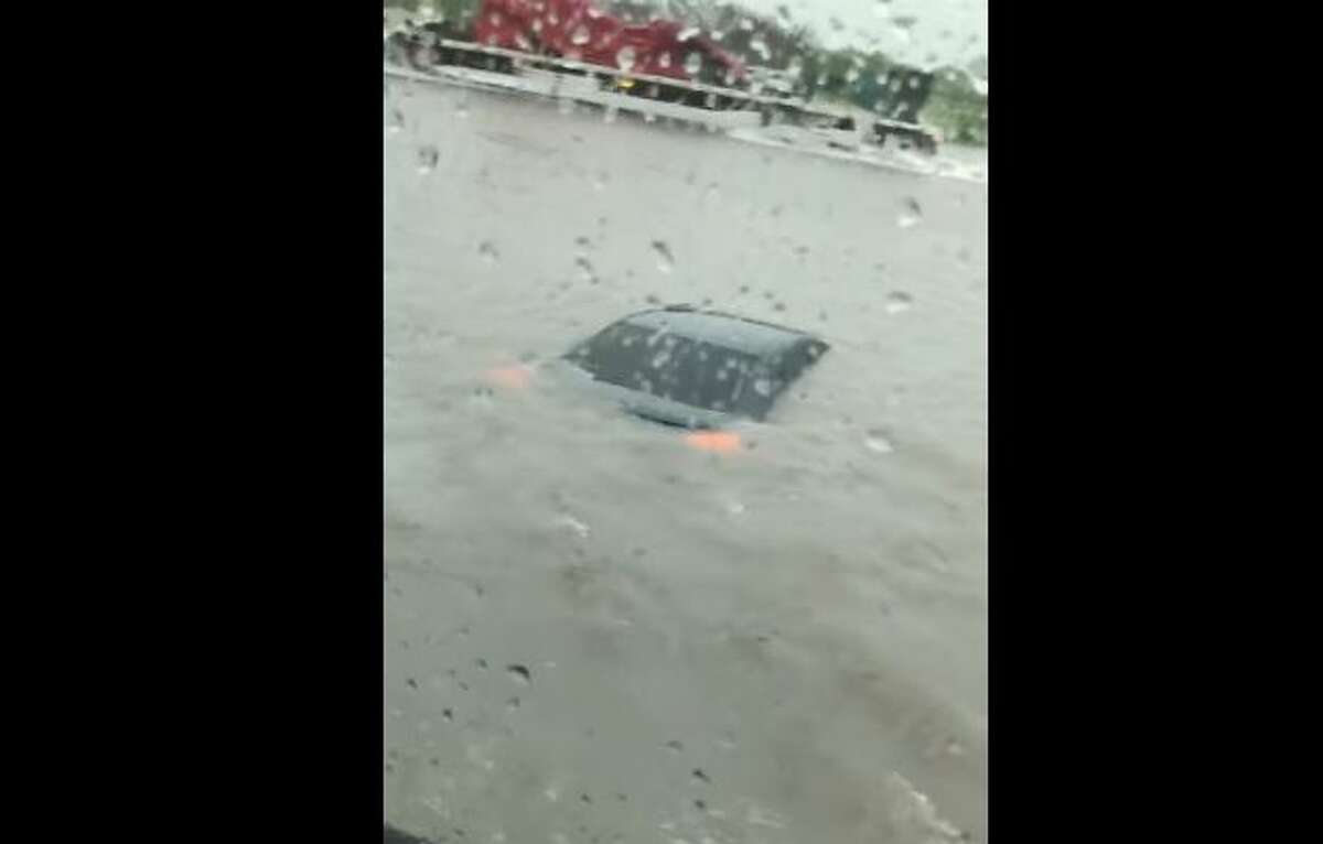 Earlier this morning around 9:30 a.m., Robert Gomez took a jaw-dropping video of what he witnessed on Highway 77 between Bishop and Kingsville - an area that remains under a Flash Flood Warning until 1 p.m. Thursday, according to the National Weather Service.
