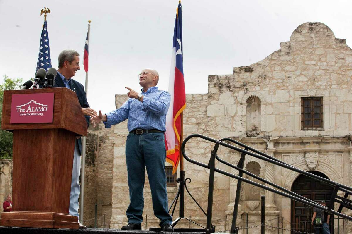 Former Texas Land Commissioner Jerry Patterson and singer Phil Collins signed an agreement for Collins to donate his extensive collection of Alamo artifacts to the state of Texas. But several experts question the authenticity of several of the collection's marquee exhibits.