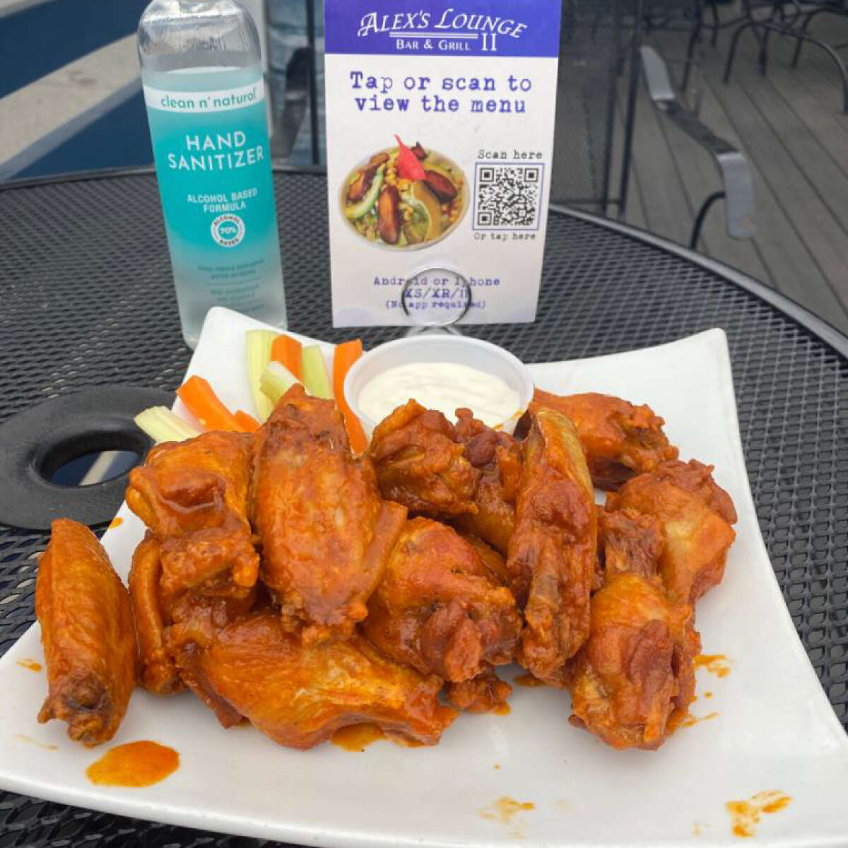 Wings from Alex's Lounge II in Elmsford, N.Y. The owner is opening a third location in Norwalk this May.