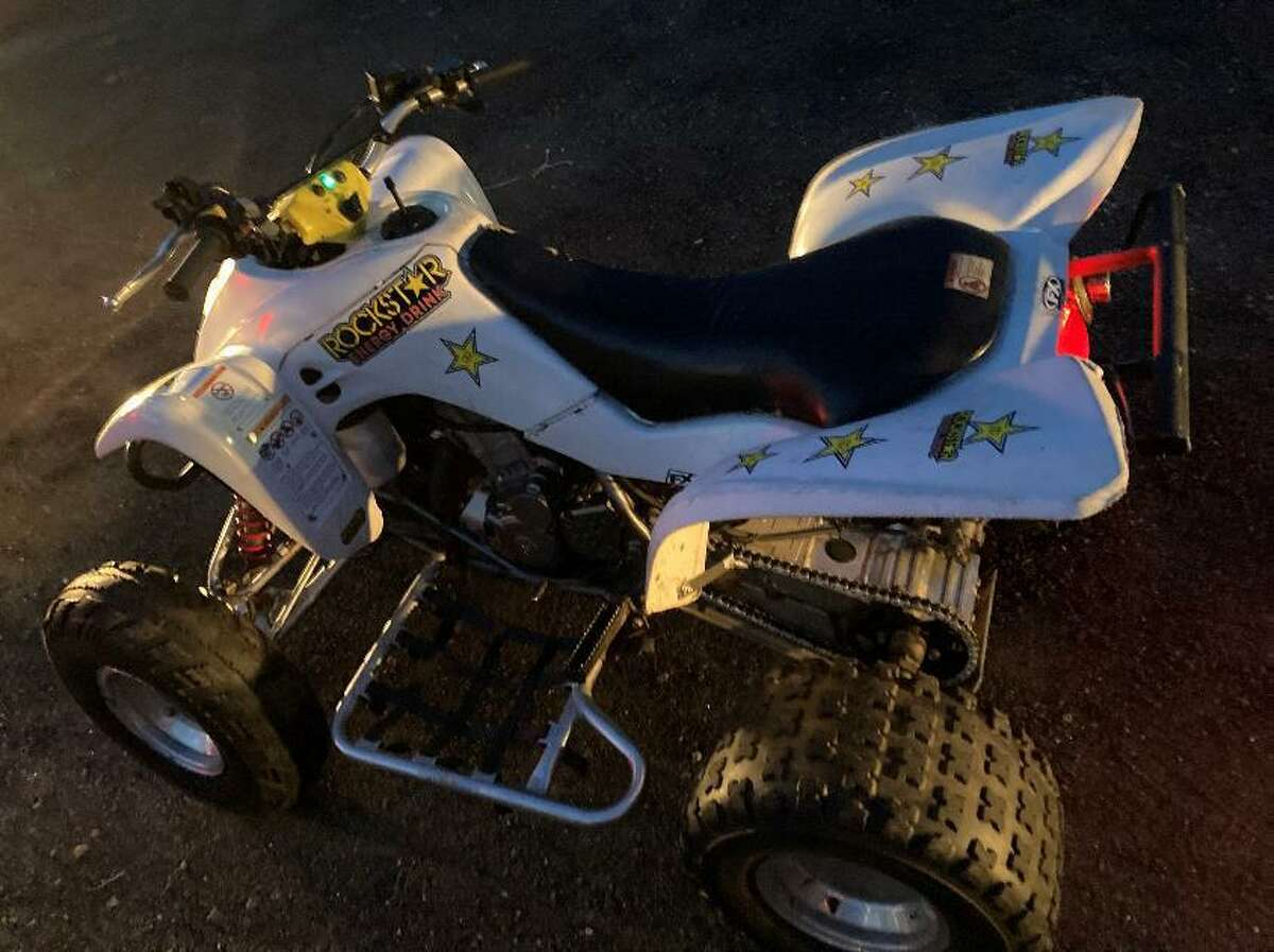 A quad seized on Monday, May 17, 2021, on East Main Street in Bridgeport, Conn.
