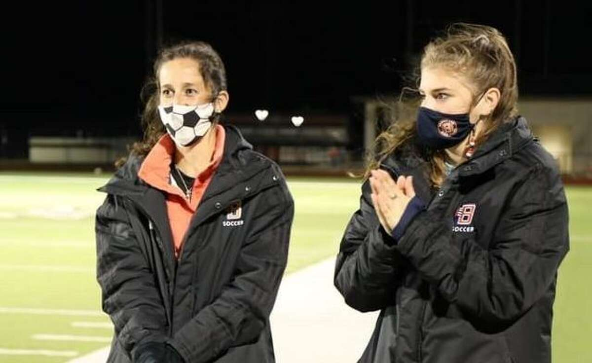 Bridgeland High School named assistant coach Katie Bourgeois, right, new head girls soccer coach Friday, May 7.