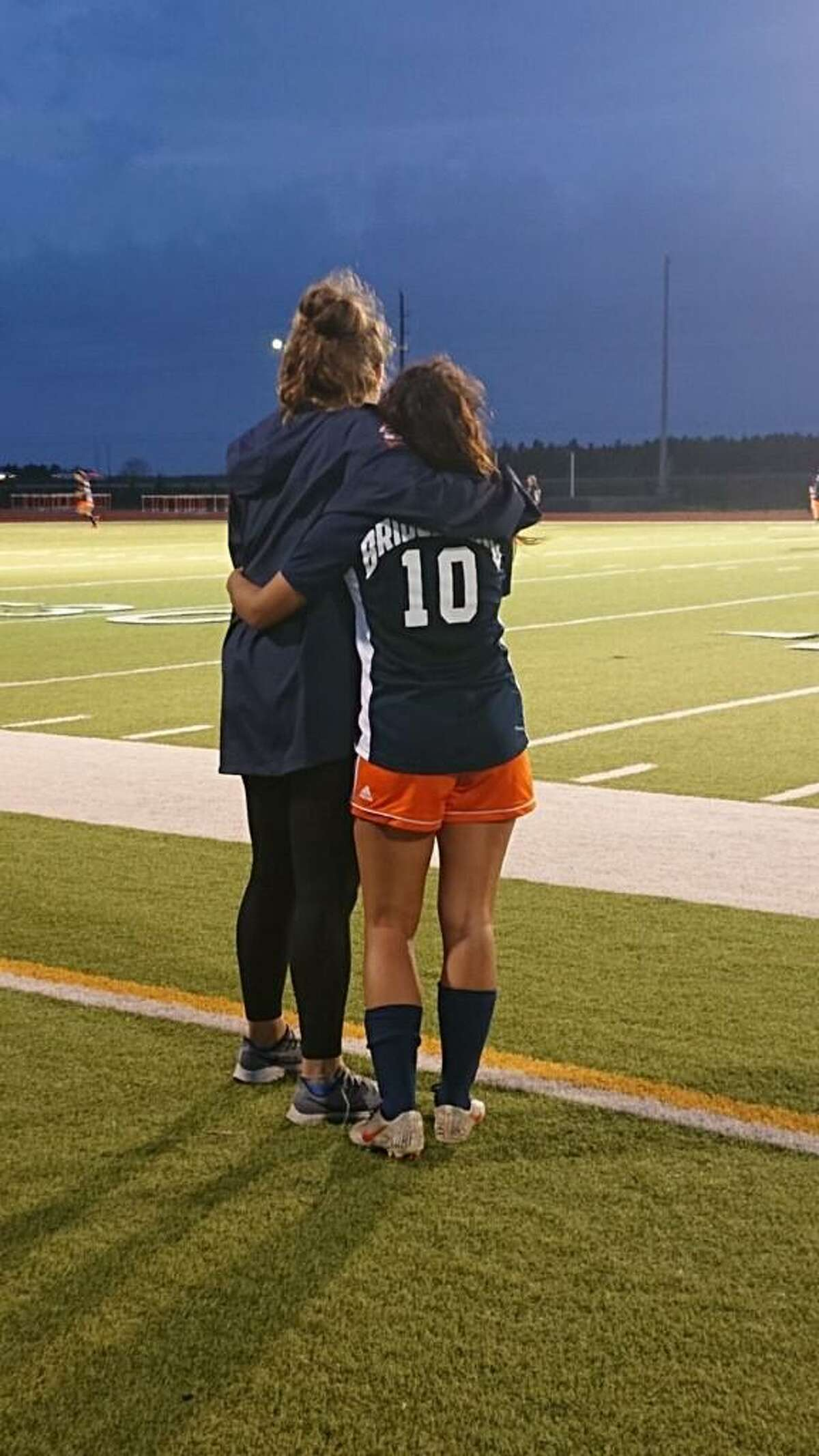 Bridgeland High School named assistant coach Katie Bourgeois, left, new head girls soccer coach Friday, May 7.