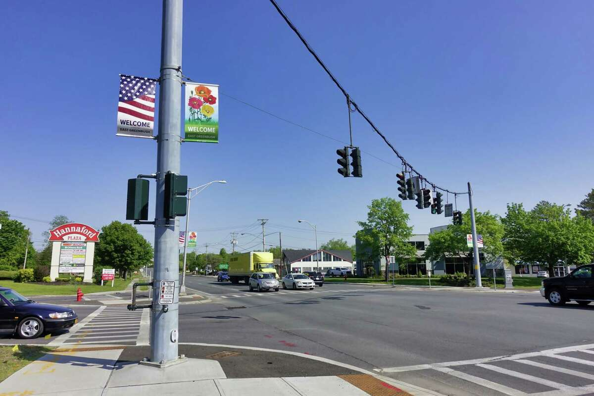 A view looking west towards the intersection of Route 4 and Columbia Turnpike on Wednesday, May 19, 2021, in East Greenbush, N.Y. This area is envisioned as the town center under a new comprehensive plan the town board is adopting. (Paul Buckowski/Times Union)