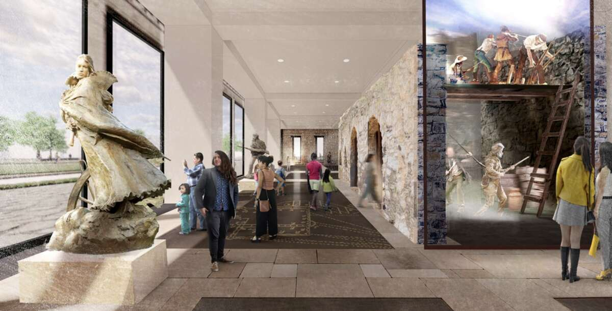 Renderings from Gallagher & Associates, via The Alamo Trust, Inc., show the potential look of the Alamo Visitor Center & Museum