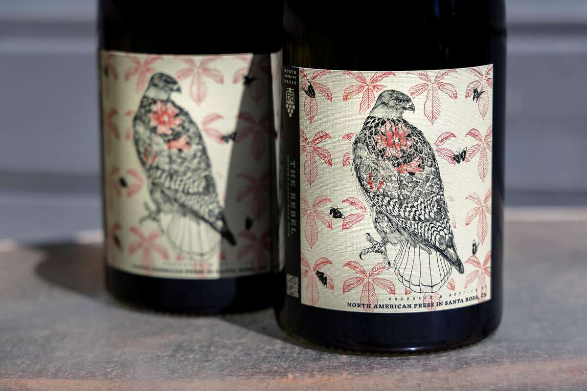 The Baco Noir from North American Press. Baco Noir is a hybrid grape, in this case grown in the Russian River Valley.