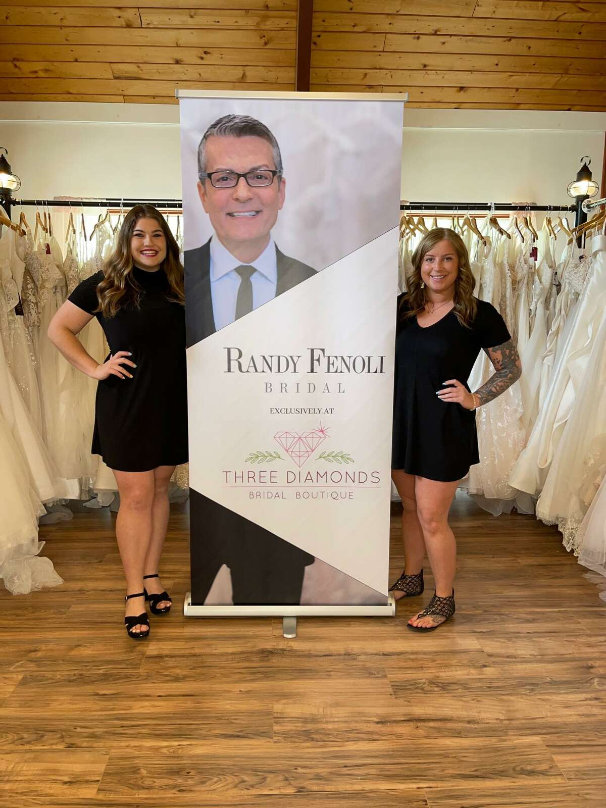 Three Diamonds Bridal will display some of the new line of dresses by designer Randy Fenoli, host of