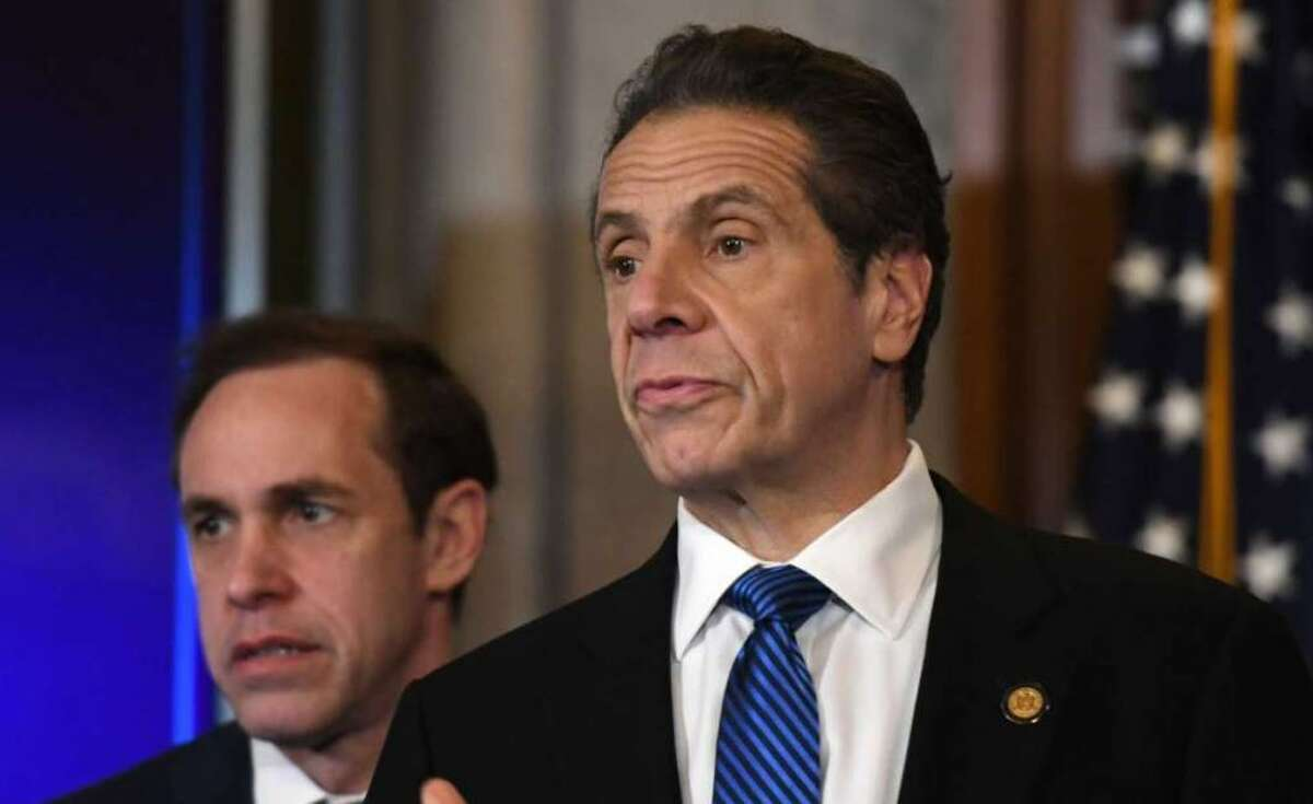 Gov. Andrew Cuomo says that half of New Yorkers have received at least one dose of COVID-19 vaccination but those who work in institutions such as prisons and residential centers for the disabled are lagging.