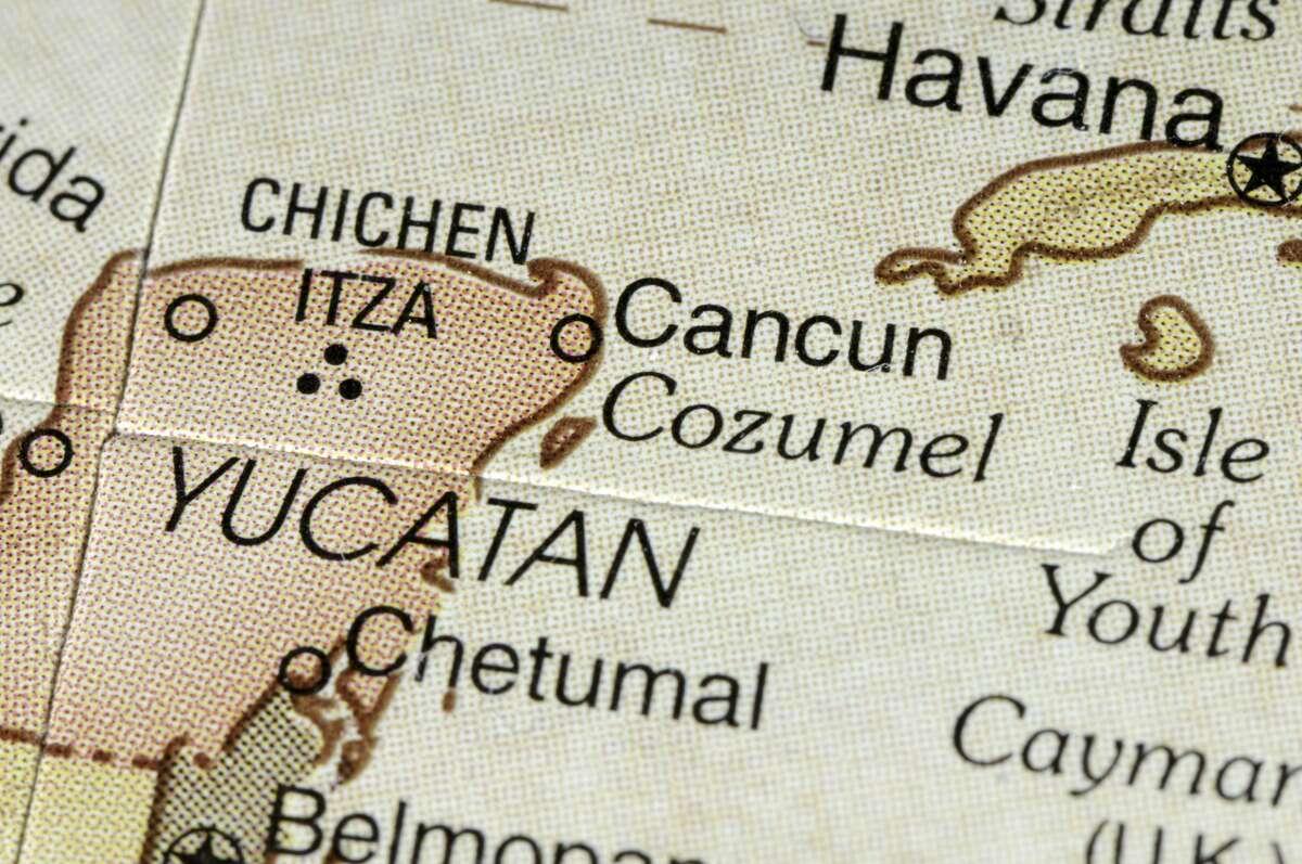 The Yucatan Peninsula.