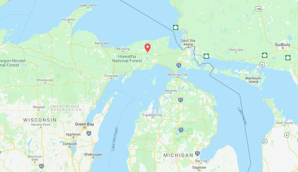 A Free Soil man was found after asearch in the Upper Peninsula on Tuesday. (News Advocate Google Map)