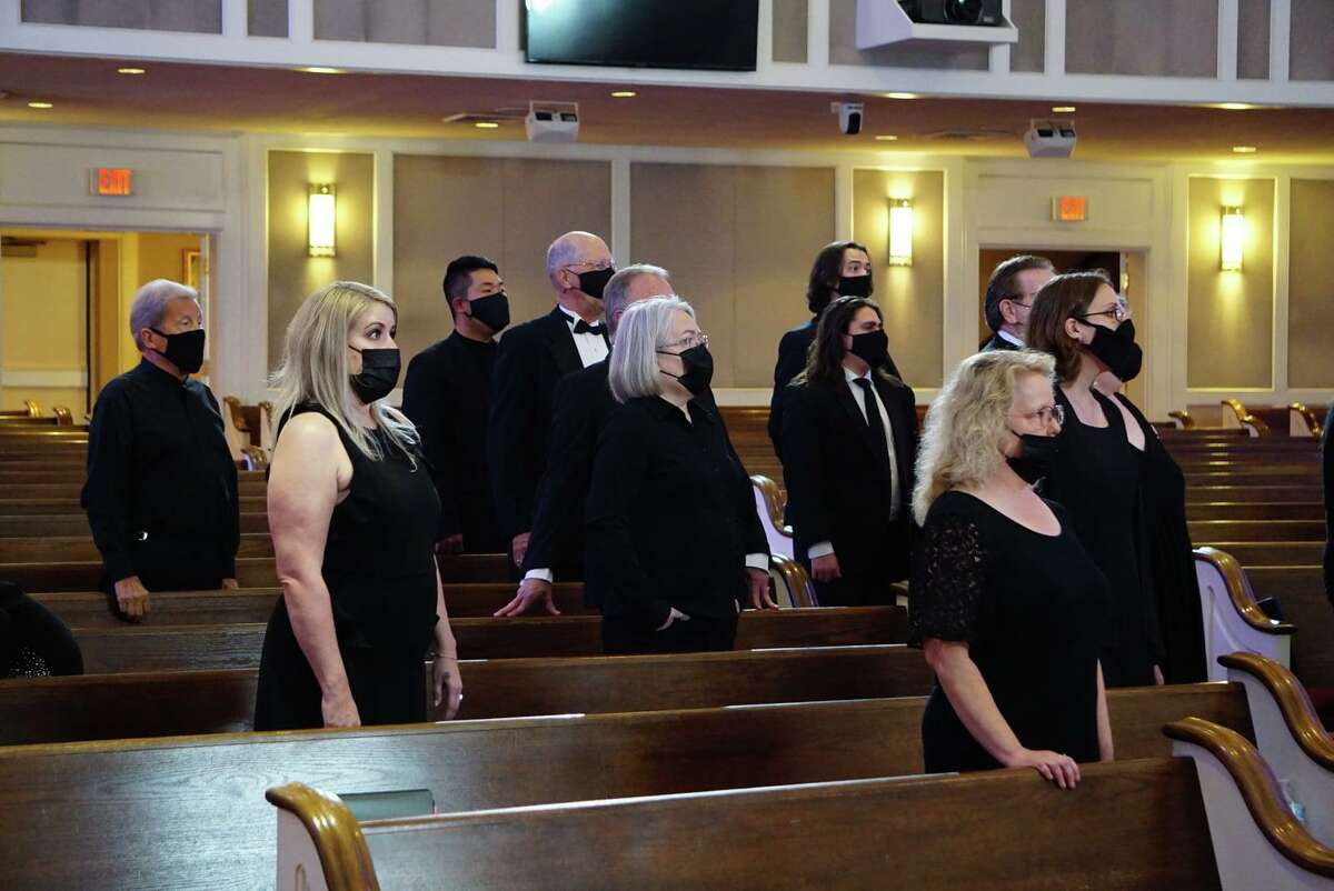"""The Montgomery County Choral Society is preparing for its first concert in a year and half. """"The Road Home"""" is at 7 p.m. Monday at the Willis Performing Arts Center. There will also be a digital component, seen filming here, that will be available with a ticket purchase."""