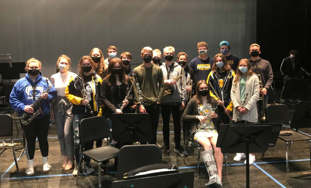 The Manistee High School symphonic and jazz bands, along with the eighth-grade band, are holding an outdoor concert at the northwest corner of the Manistee Middle High School building at 7 p.m. on Monday.
