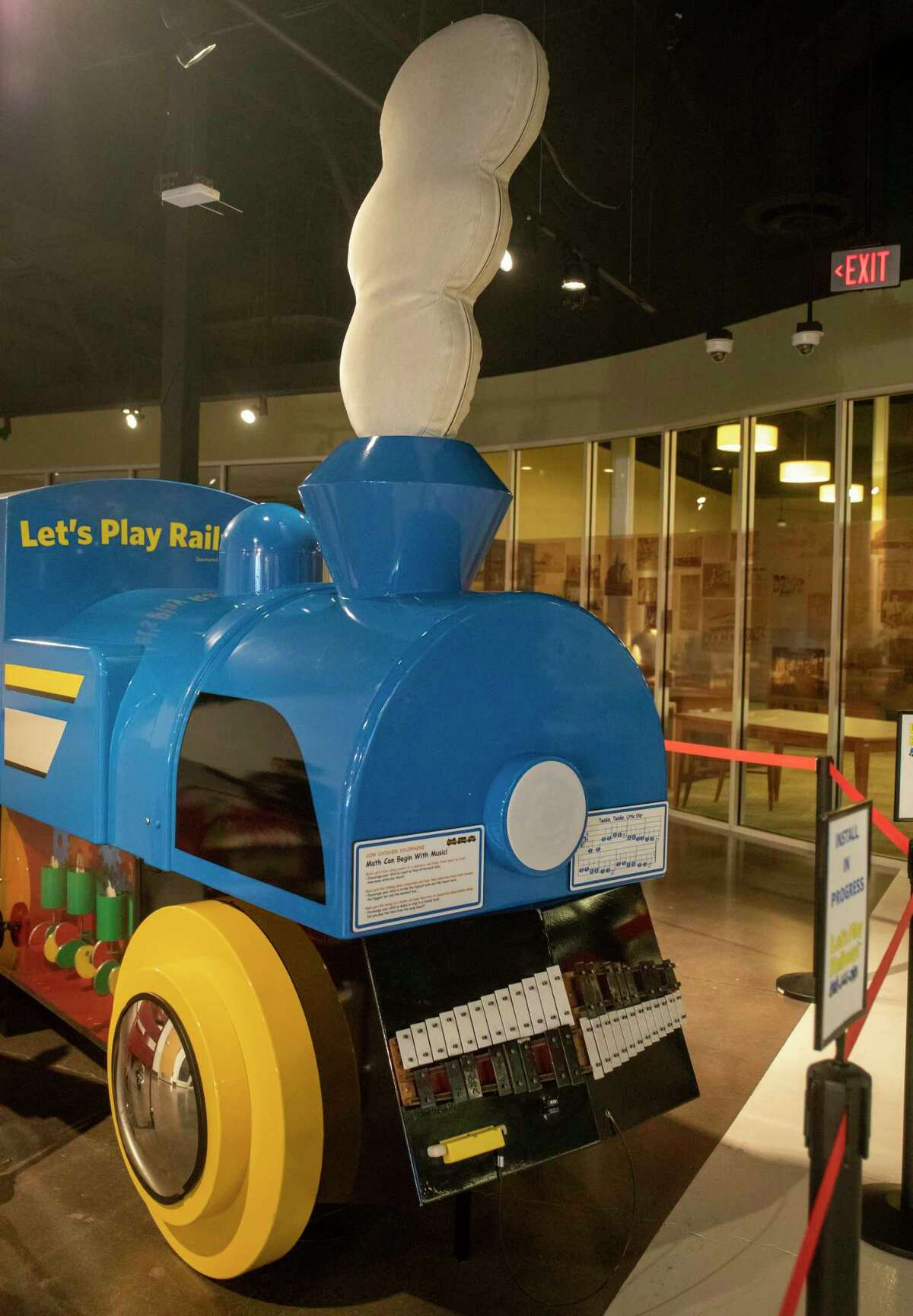 ???Let???s Play Railway??? exhibit being set up Tuesday, May 18, 2021 at Centennial Library. Jacy Lewis/Reporter-Telegram