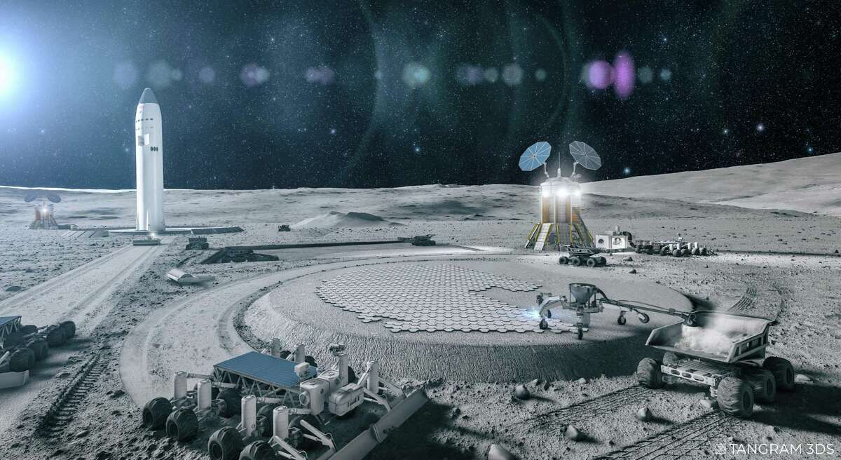 San Antonio-based Astroport Space Technologies received a NASA small business grant to evaluate lunar landing pad construction. Astroport is developing technology to melt moon soil to build landing pads for spacecraft.
