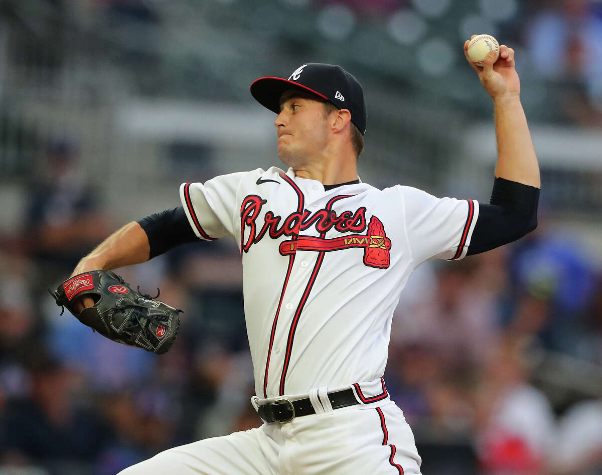 Atlanta Braves pitcher Tucker Davidson, making his first start of 2021, delivers against the New York Mets during the first inning on Tuesday, May 18, 2021, in Atlanta. (Curtis Compton/Atlanta Journal-Constitution/TNS)