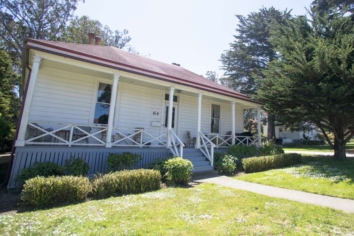 The exterior of the house Marc Kasky rents in the Presidio in San Francisco on May 19, 2021. Kasky and his wife were the first residents to live in the Presidio after it turned into a national park.