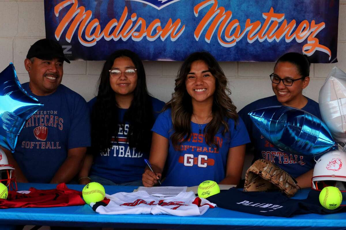 Plainview softball player Madison Martinez signed her letter of intent to play collegiately at Galveston College in a special ceremony last week.