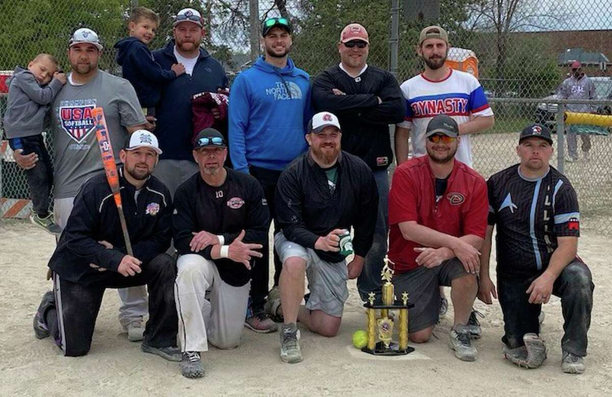 Pictured here are the Big Rapids Men's Softball Association Spring Fling 2021 champions: front, from left, Joe Vancullin, Shane Prince, Andy Krugler, Dan Horanand Steve Cutler; back row, from left, Marcus Garner, Josh Young, Matt Leusby, Josh Pyles and Christian Meeuwes. (Courtesy photo)