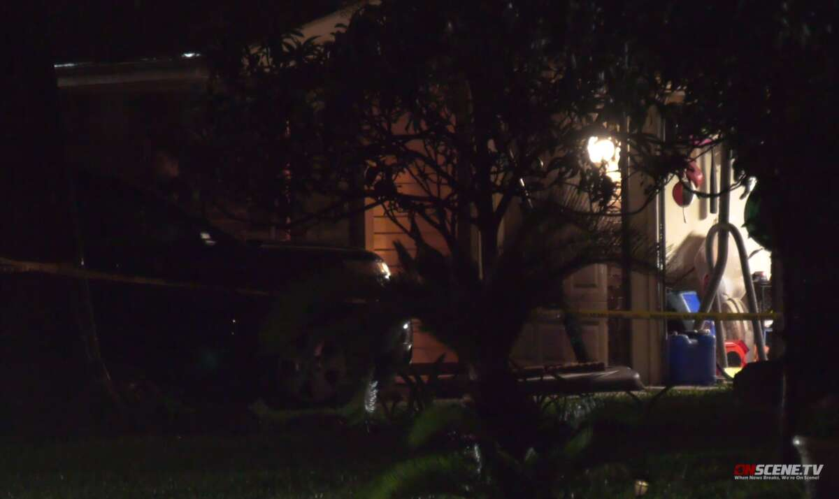 Two teenage children called 9-1-1 Wednesday evening to report that their father had shot and killed their mother in the 9500 block of Walnut Glen in Houston, police said.