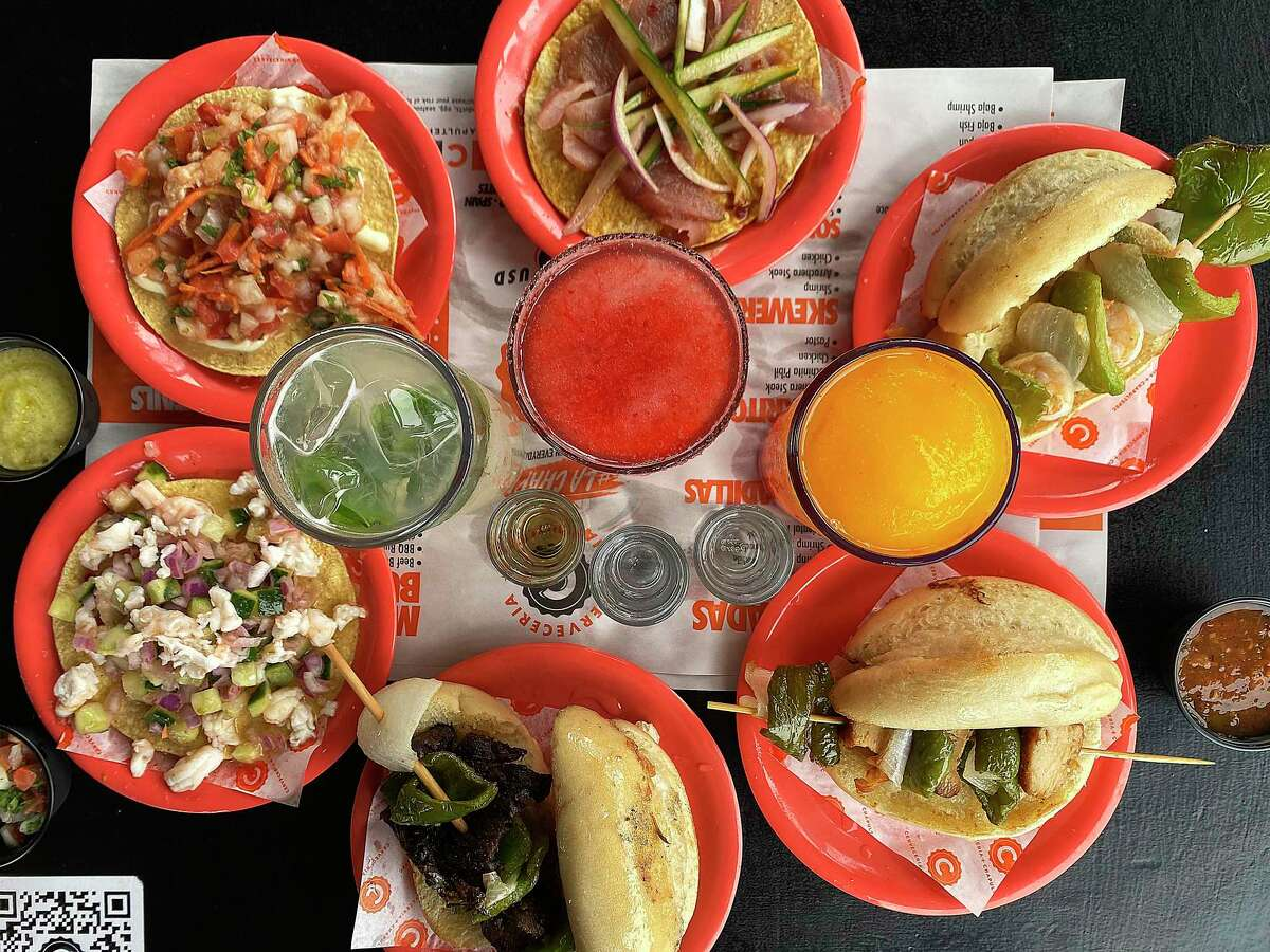 The menu includes a wide selection of tostadas, grilled meats, cocktails and mezcal shots at Cervecería Chapultepec, a one-price Mexican restaurant and bar on Elmira Street.
