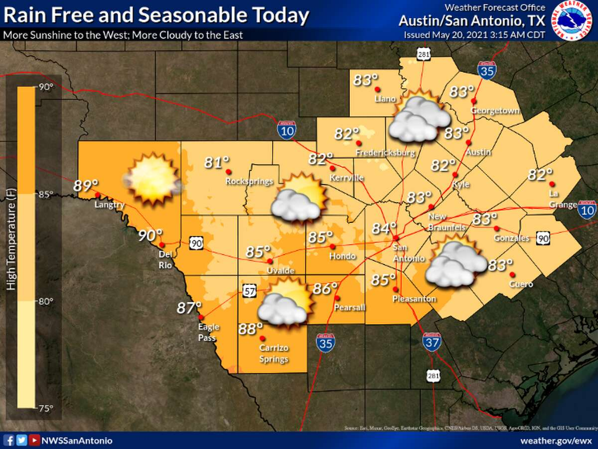 Sun returns for the San Antonio area, but not for long, NWS says.