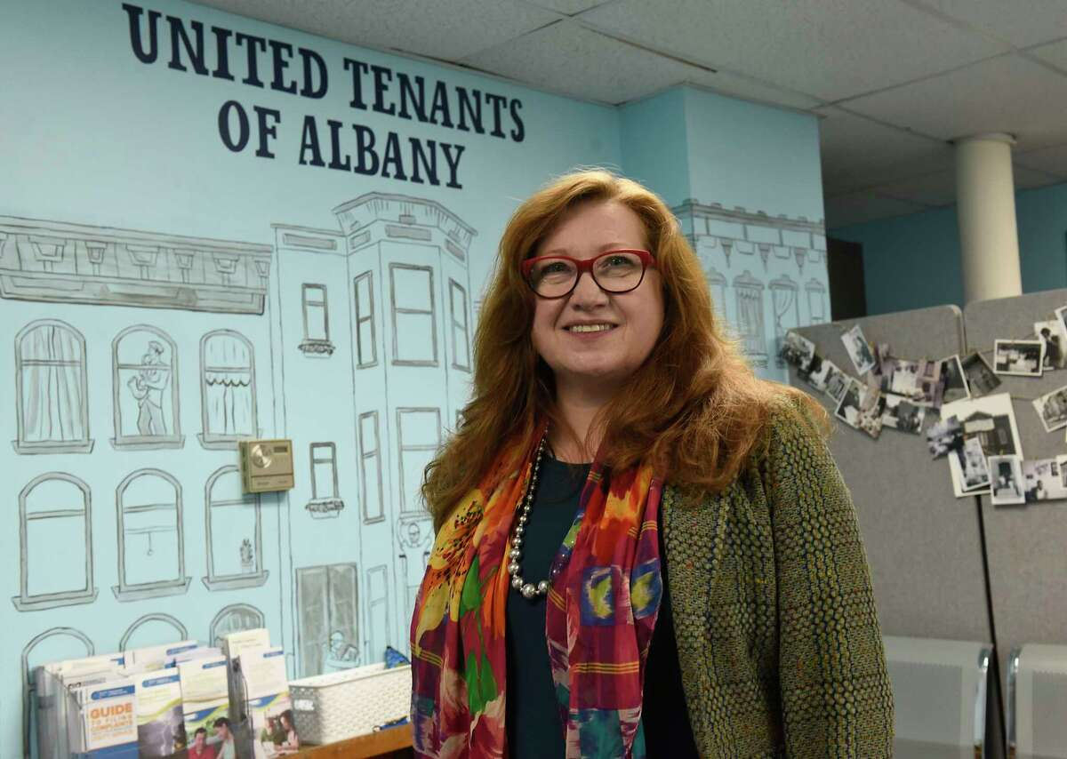 K. Michelle Arthur, P.h.D., the new executive director of United Tenants of Albany, stands in the office on Wednesday, May 5, 2021 in Albany, N.Y. (Lori Van Buren/Times Union)