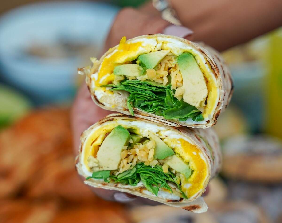 A veggie wrap from HS Green Fresh Food Kitchen.