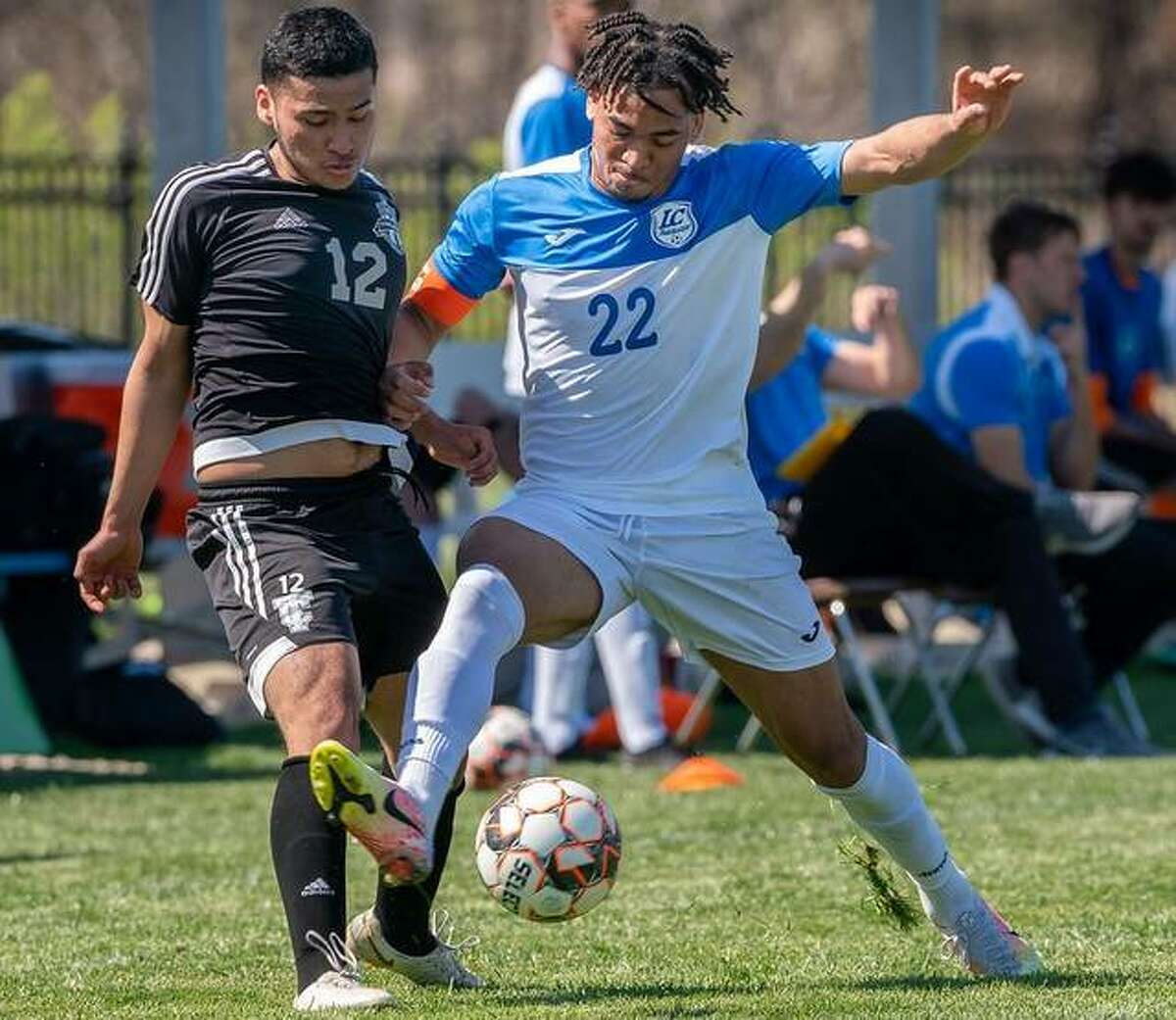 LCCC's Spencer Barber, a freshman from Ontario, Canada, led the Trailblazers with six goals during their abbreviated six-game spring schedule.