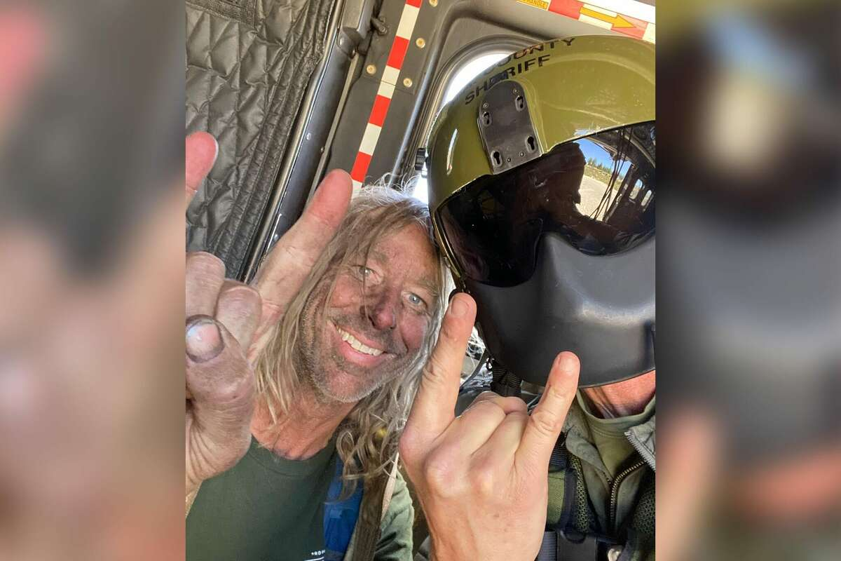 George Null was rescued after being stranded in Angeles National Forest for five days.