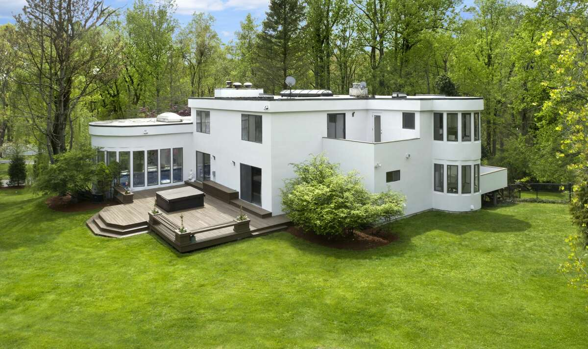 The home on 15 Laub Pond Road in Greenwich, Conn. was built in 2003 and has four bedrooms, seven bathrooms and 7,403 square feet of living space.