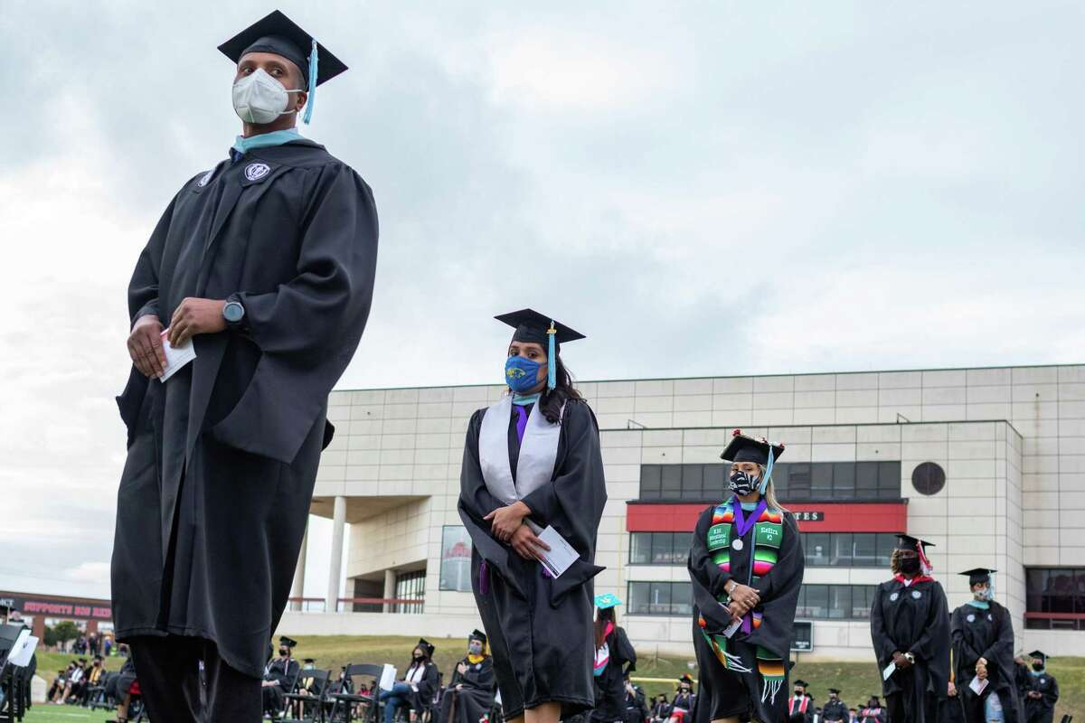 After a limited graduation ceremony in the spring due to Covid restrictions, Lamar University graduated many members for the Class of 2020 Friday afternoon. Photo made on December 11, 2020. Fran Ruchalski/The Enterprise