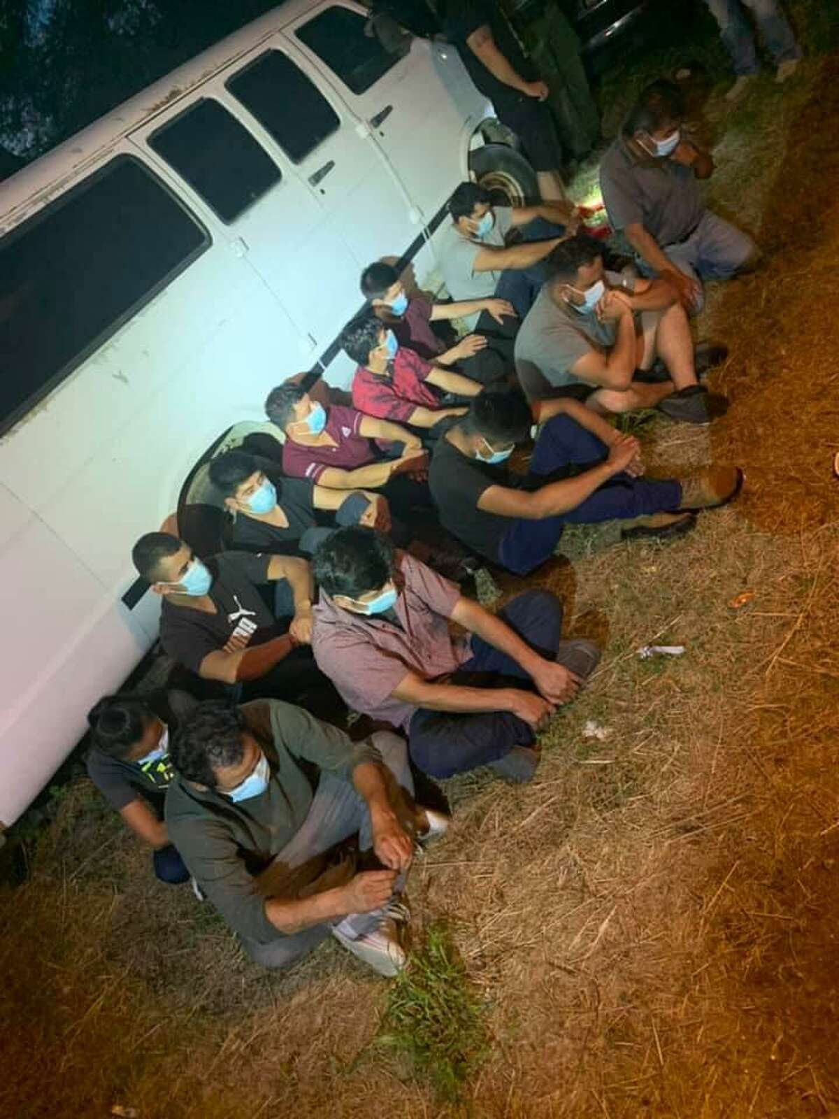 The Webb County Sheriff's Office said they rescued these 13 migrants who were held against their will at a south Laredo home.