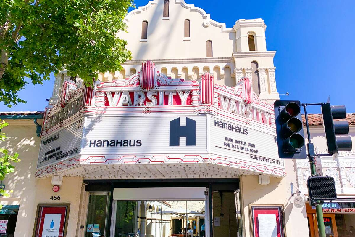 HanaHaus is at 456 University Ave. in Palo Alto. The structure, which was completed in 1927, first opened as a single-screen movie theater.