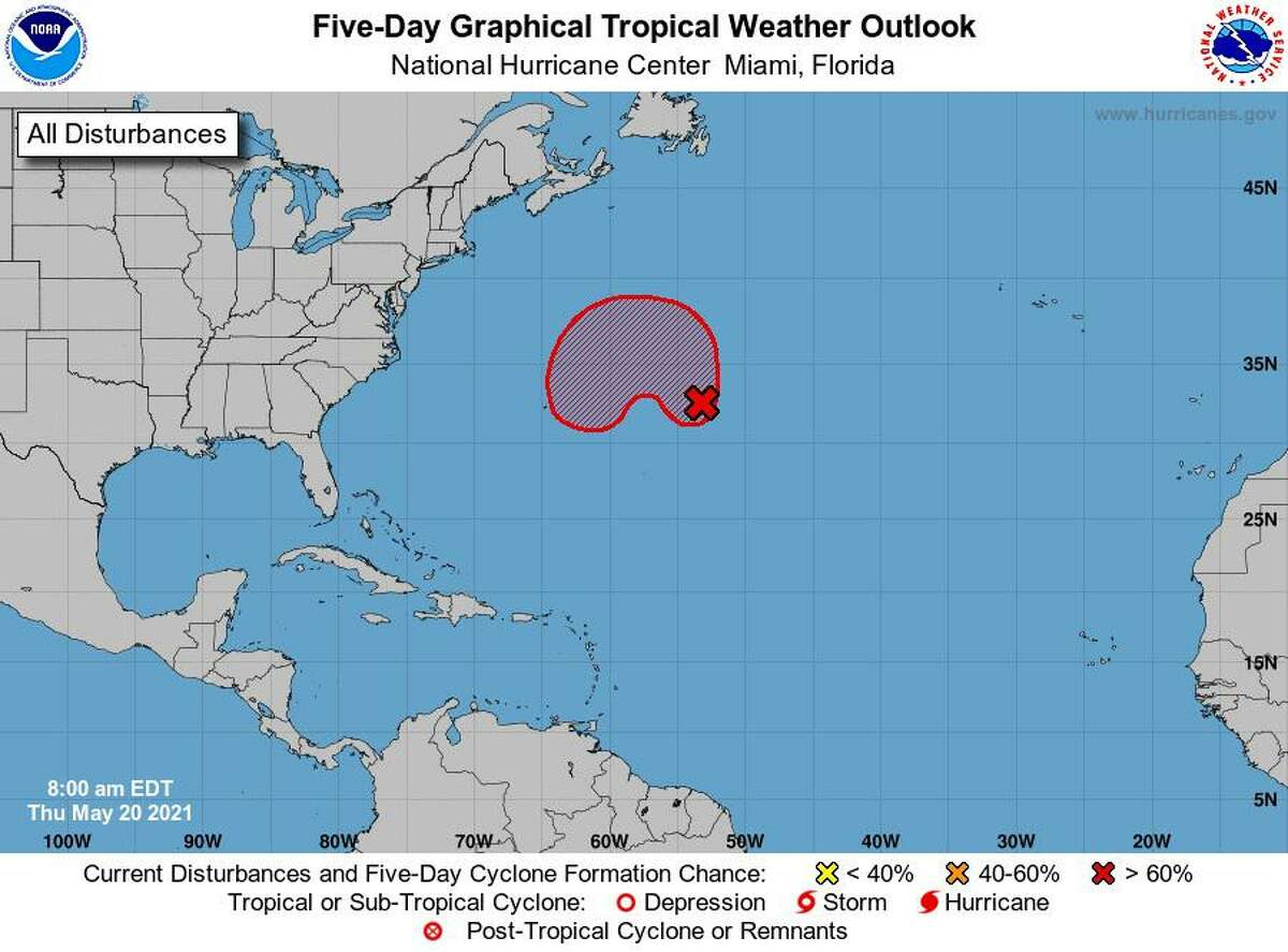 A disturbance in the Atlantic is likely to become a subtropical cyclone near Bermuda, according to the National Weather Service.