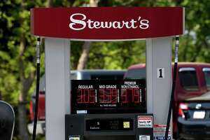 Gas pumps at the recently updated Albany Shaker Road Stewart's Shop convenience store on Thursday, May 20, 2021, in Colonie, N.Y.  (Will Waldron/Times Union)