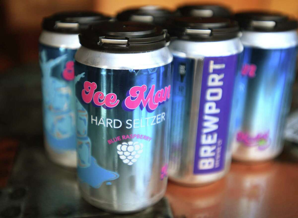 A six pack of the new Ice Man hard seltzer.