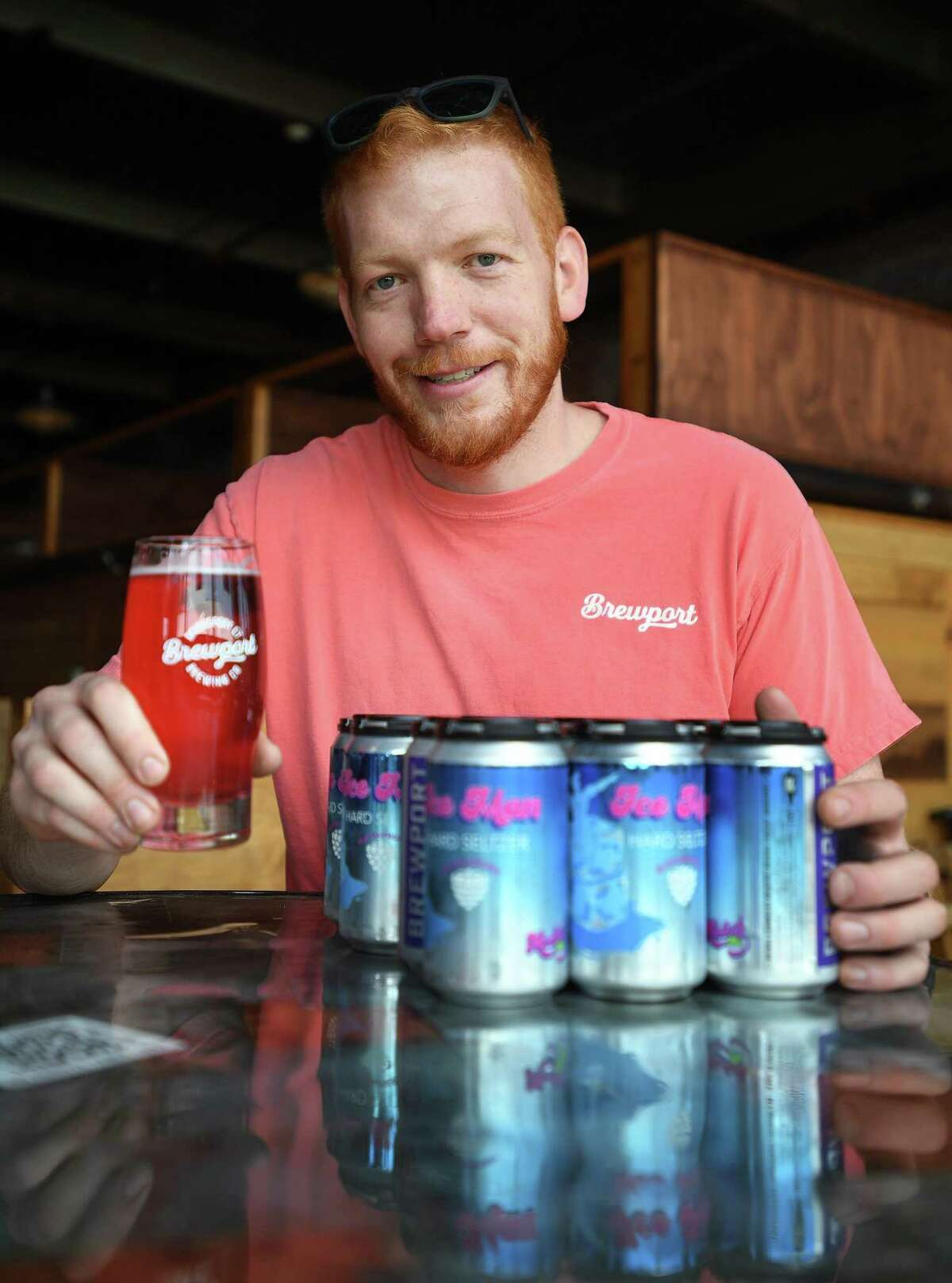Director of Brewing Operations Jeff Browning, Jr. developed the new Ice Man hard seltzer at Brewport in Bridgeport, Conn. on Thursday, May 20, 2021.