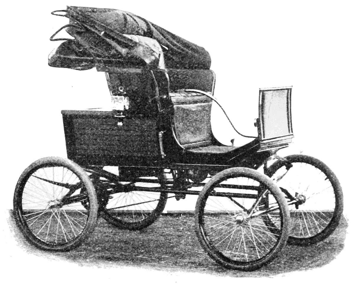 An American steam carriage in 1900.