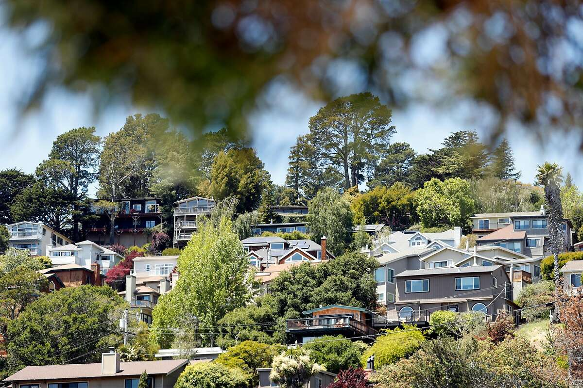 Houses in Mill Valley. The Bay Area's median home price hit a record $1.3 million in April.
