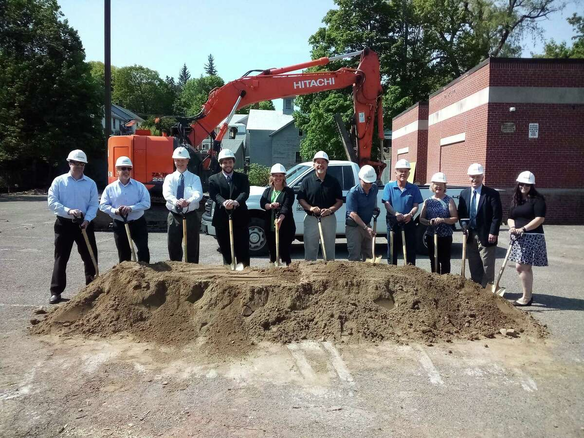 A groundbreaking ceremony was held at the Mary P. Hinsdale School May 20 in Winsted. The school, which has been closed for several years, is being renovated.