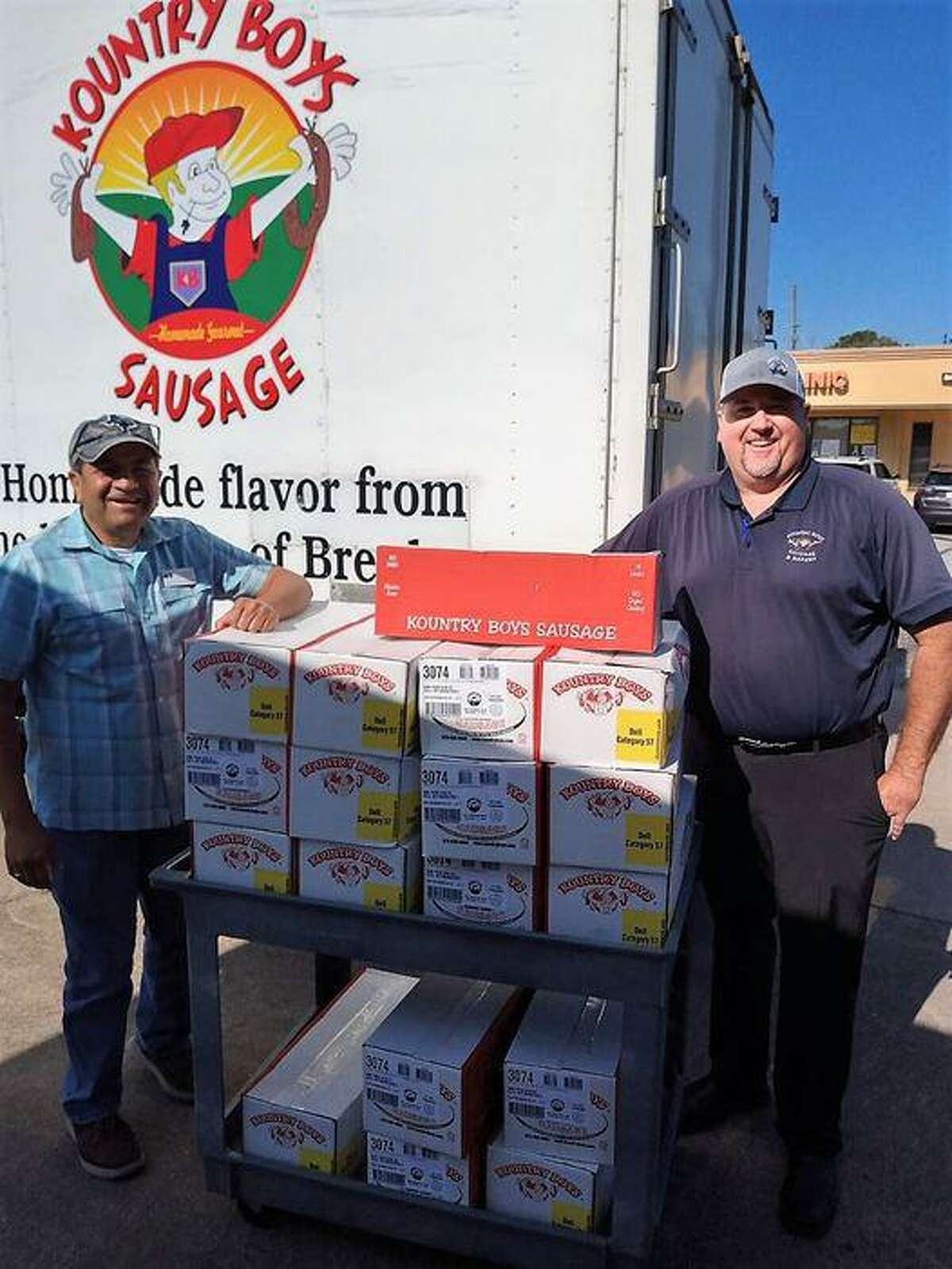 Cypress Assistance Ministries has received donations of eggs from Rose Acre Farms, food from Cypress Ranch High School students and sausage from Kountry Boys Sausage.
