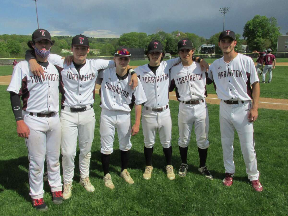 A missing year for high school baseball produced brand new faces and stars for Torrington's Raiders, including, left to right, Ray Campbell, Joe DiPippo, Dean Basso, Jake Groebl, Cooper Suminski and Tyler Semonich.