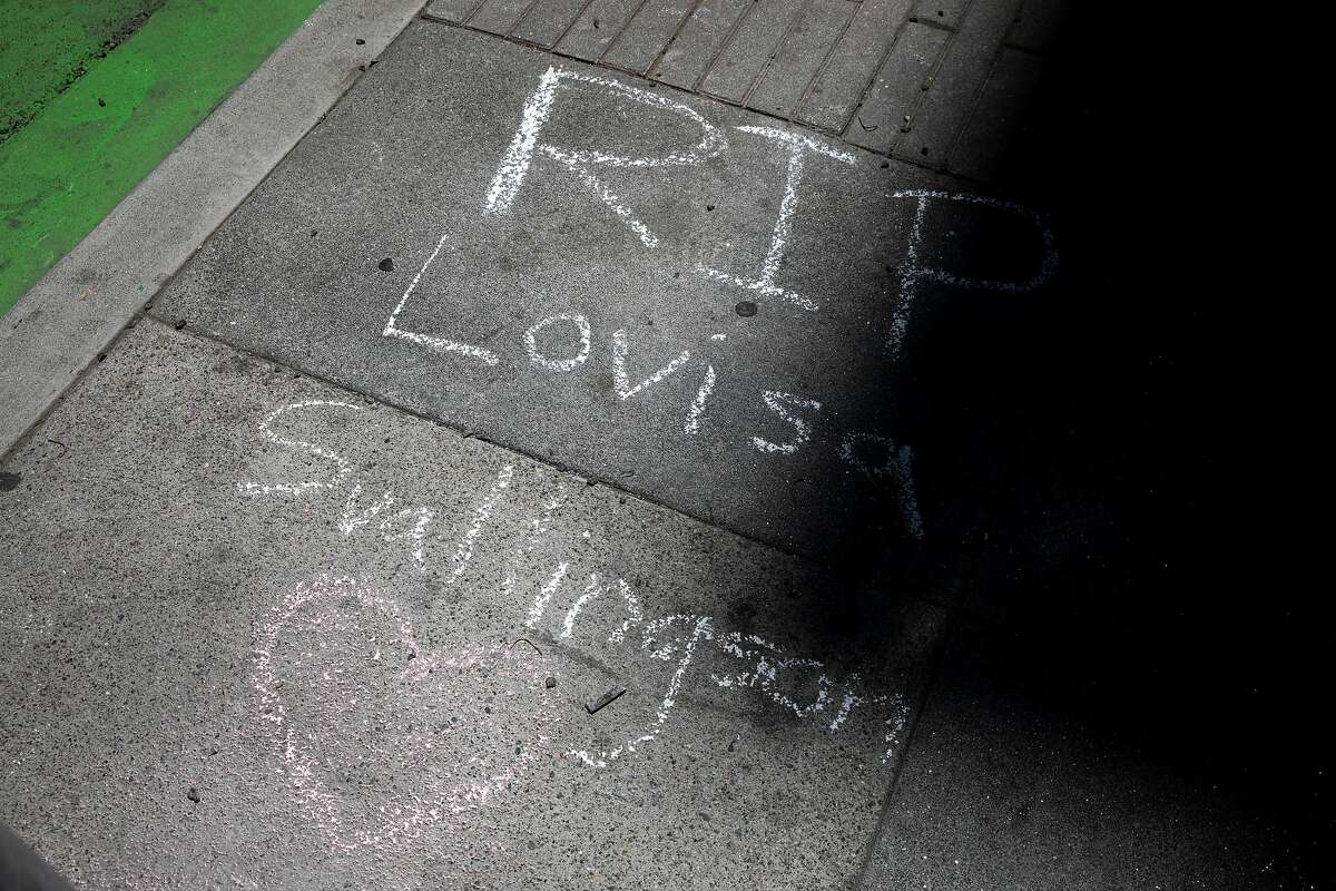 A memorial for Lovisa Svallingson at Polk Street and Hayes Street, Thursday, May 20, 2021, in San Francisco, Calif. Svallingson, a 29-year-old software engineer, was killed in a hit-and-run crash. Officials responding to the crash at 7 p.m. Tuesday found two pedestrian victims. The crash occurred when a pickup truck collided with a sedan and then careened into the two pedestrians. One of the pedestrians was Svallingson. The driver fled the scene on foot, officials said. As of Wednesday night, police had not identified any suspects or made any arrests.