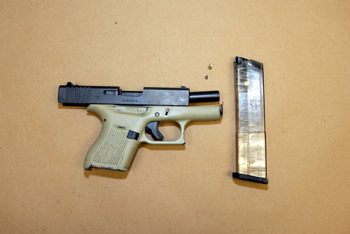 Albany police confiscated this gun and arrested a man they say fired it on a crowded street around 1 a.m. Thursday, May 20, 2021. (Provided photo)