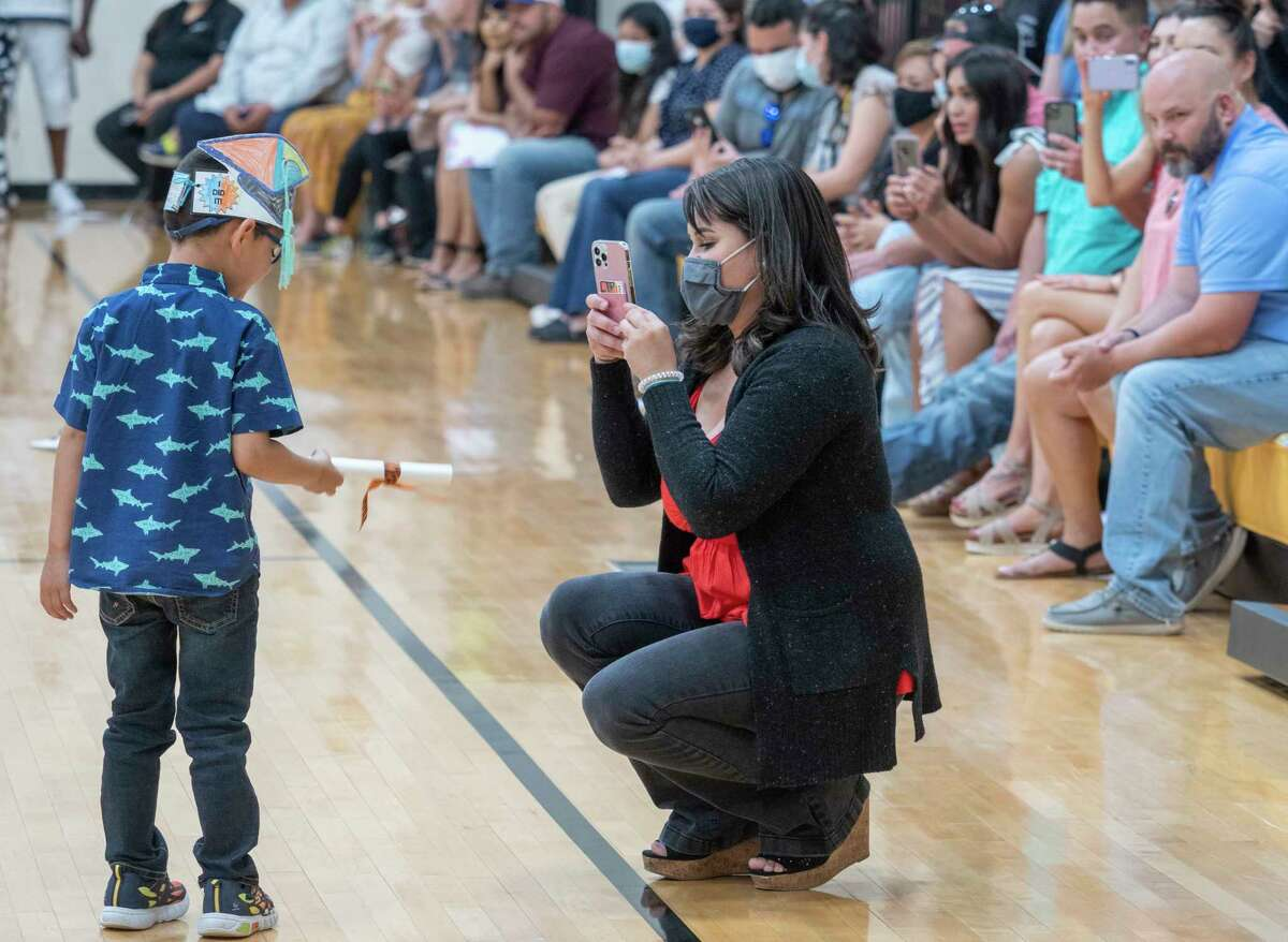 Midland College Pre-K Academy holds a graduation for 31 four-year-olds 05/20/2021 at Midland College. Students performed songs and dance before receiving their diploma. Tim Fischer/Reporter-Telegram