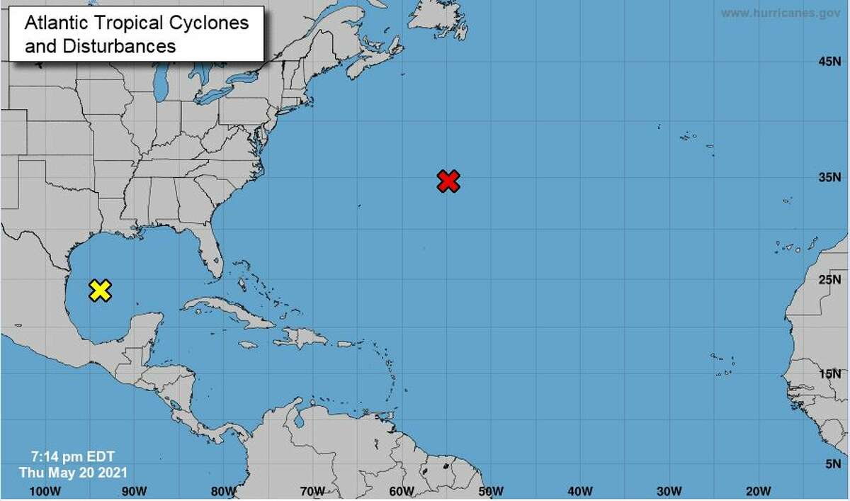 A disturbance in the Gulf of Mexico has a 20 percent chance of developing into a cyclone, according to the National Hurricane Center. It is expected to bring heavy rain over southeastern Texas and southwestern Louisiana from Friday through the weekend, forecasters say.
