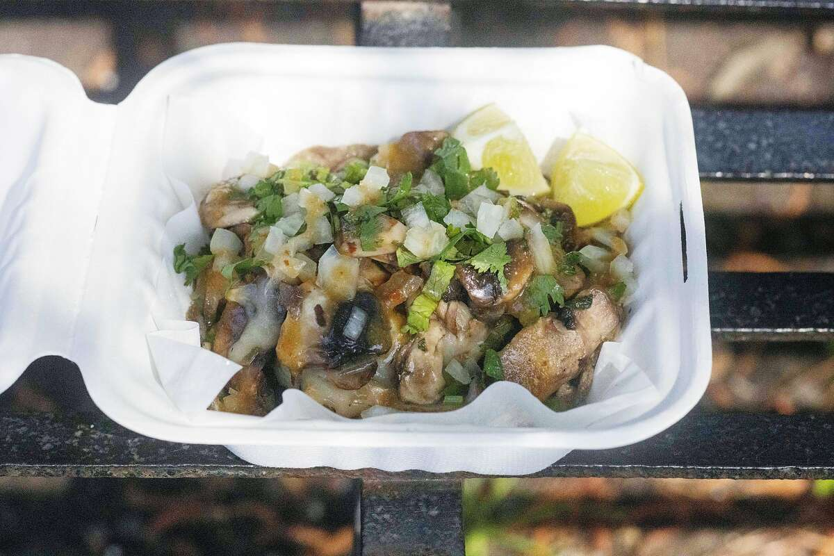 Mi Morena's Mushroom Taco, a restaurant in the La Cocina urban market square on Wednesday, May 19, 2021 in San Francisco, California.